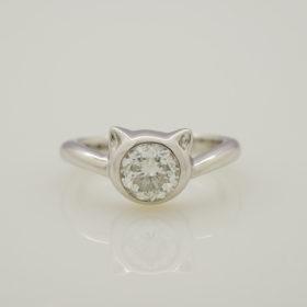 写真:1ctダイヤモンドリングのリフォーム
