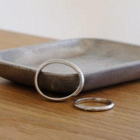 写真:メンテナンス前のご結婚指輪